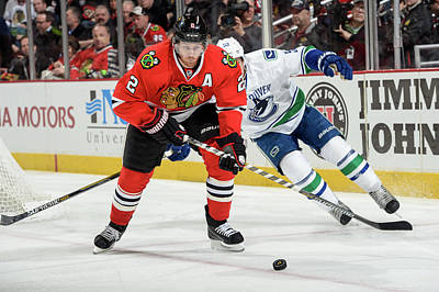 Photograph - Vancouver Canucks V Chicago Blackhawks by Bill Smith
