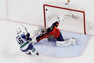 Photograph - Vancouver Canucks V Florida Panthers by Joel Auerbach