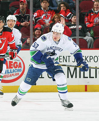 Photograph - Vancouver Canucks V New Jersey Devils by Andy Marlin
