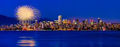 Vancouver Photograph - Vancouver Celebration Of Light Fireworks 2013 - Day 1 by Alexis Birkill