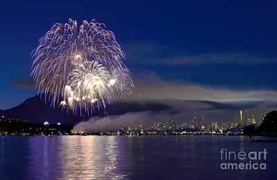 Photograph - Vancouver Celebration Of Light Fireworks 2014 - France 4 by Terry Elniski
