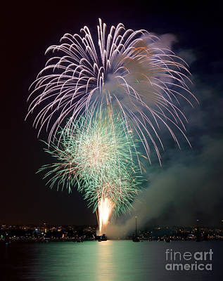 Photograph - Vancouver Celebration Of Light Fireworks 2014 - Japan 2 by Terry Elniski