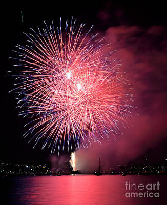 Photograph - Vancouver Celebration Of Light Fireworks 2014 - Japan 3 by Terry Elniski