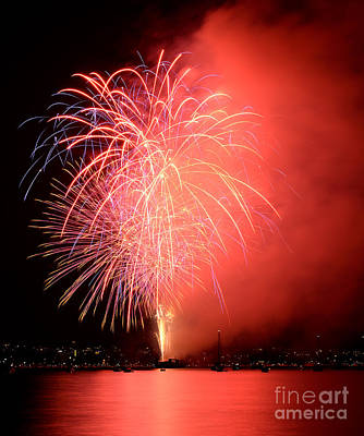 Photograph - Vancouver Celebration Of Light Fireworks 2014 - Japan 4 by Terry Elniski