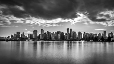 Photograph - Vancouver City In Black And White by Pierre Leclerc Photography