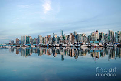 Photograph - Vancouver Coal Harbour by Charline Xia