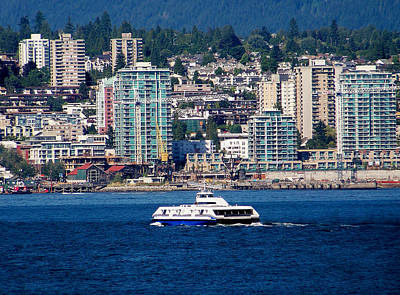 Photograph - Vancouver Ferry by Judy Wanamaker