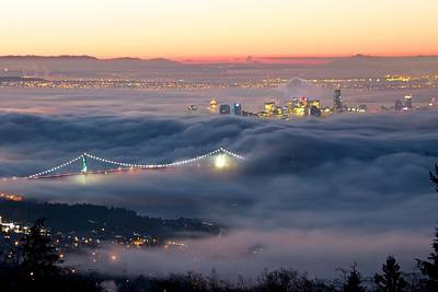 Photograph - Vancouver Fog by Scott Holmes
