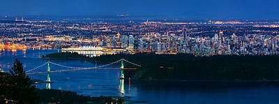 Lions Gate Bridge Photograph - Vancouver From Cypress Mountain by Alexis Birkill