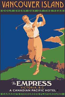 Golf Digital Art - Vancouver Island by Gary Grayson