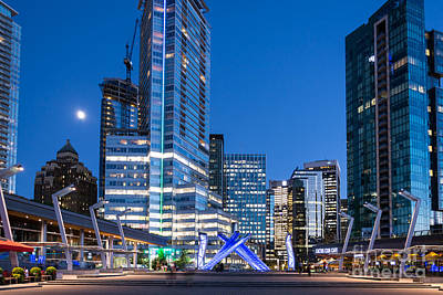 Vancouver At Night Photograph - Vancouver Olympic Cauldron - By Sabine Edrissi by Sabine Edrissi