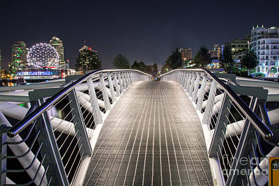 Vancouver Olympic Village Canoe Bridge - By Sabine Edrissi  Art Print by Sabine Edrissi