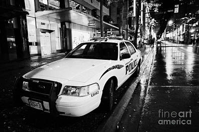 Vancouver Police Squad Patrol Car Vehicle Bc Canada Print by Joe Fox