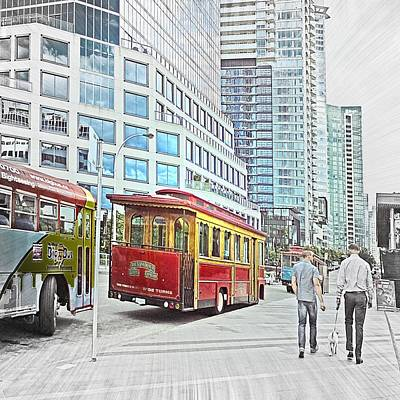 Vancouver Sightseeing Art Print by Carol Cottrell