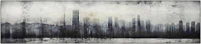 Vancouver Skyline Abstract 1 Art Print