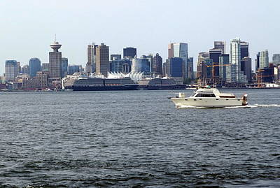 Photograph - Vancouver Skyline And Canada Place by Devinder Sangha