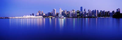 Vancouver Photograph - Vancouver Skyline At Night, British by Panoramic Images