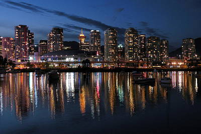 Photograph - Vancouver Skyline by Brian Chase
