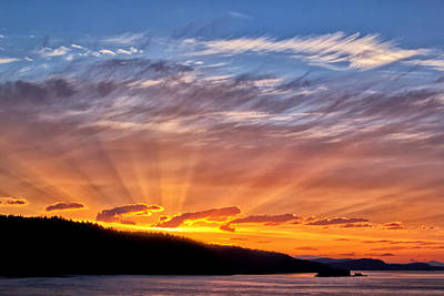 Photograph - Vancouver Sunset by Carolyn Derstine