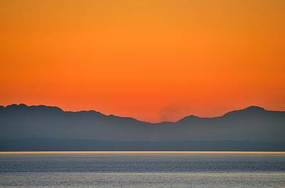 Photograph - Vancouver Sunset Off Lighthouse Park 2 by Steven Richman