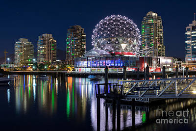 Vancouver Telus World Of Science - By Sabine Edrissi Art Print by Sabine Edrissi