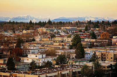 Photograph - Vancouver Urban View In Winter At Sunset by Totororo