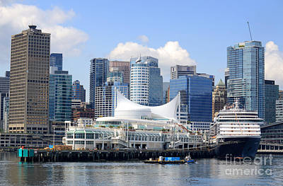 Photograph - Vancouver Waterfront Landmarks by Charline Xia