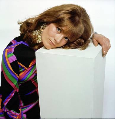Vanessa Wall Art - Photograph - Vanessa Redgrave Wearing Nucci Earrings by Bert Stern
