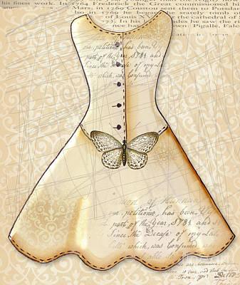 Vanilla Dress Art Print by Elaine Jackson