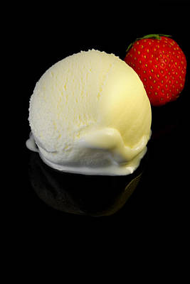 Frozen Yogurt Digital Art - Vanilla Ice Cream by Modern Art Prints