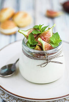 Jar Photograph - Vanilla Mascarpone Cream With Fresh Figs by Food Style And Photography