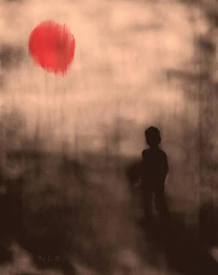 Chakra Painting - Vanishing Sun by Bob Orsillo