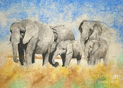 Painting - Vanishing Thunder Series - The Family  by Suzanne Schaefer