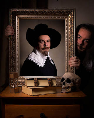 Photograph - Vanitas Portrait Of The Photographer Painter by Levin Rodriguez