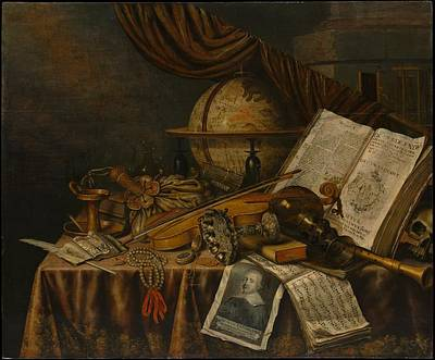 Collier Painting - Vanitas Still Life by Edwaert Collier