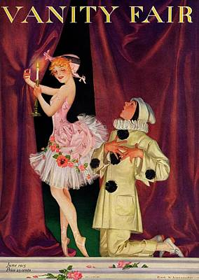 Ruff Photograph - Vanity Fair Cover Featuring A Ballerina by Frank X. Leyendecker