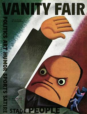 Flag Photograph - Vanity Fair Cover Featuring  A Caricature by Miguel Covarrubias