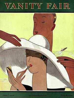 Photograph - Vanity Fair Cover Featuring A Cartoon Man by Marion Wildman