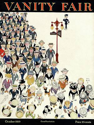 Vanity Fair Cover Featuring A Crowd Art Print