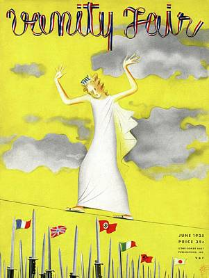 Photograph - Vanity Fair Cover Featuring A Female Figure by Paolo Garretto