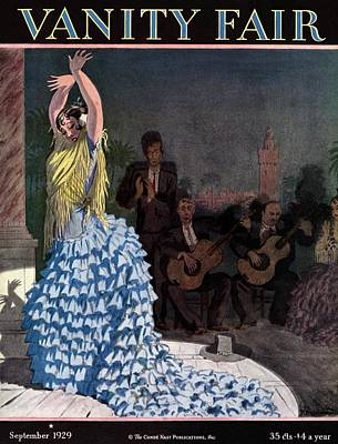 Shawl Photograph - Vanity Fair Cover Featuring A Flamenco Dancer by Pierre Brissaud
