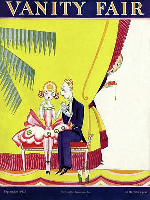 Vanity Fair Cover Featuring A Man Seducing Art Print by A. H. Fish