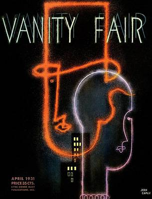 Stylized Photograph - Vanity Fair Cover Featuring A Neon Illustration by Jean Carlu