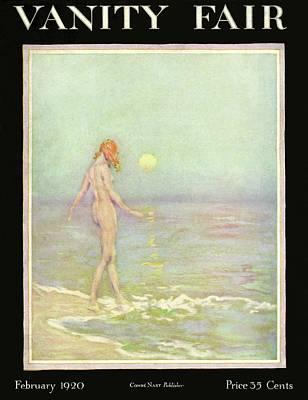 Davis Photograph - Vanity Fair Cover Featuring A Nude Woman Walking by Warren Davis