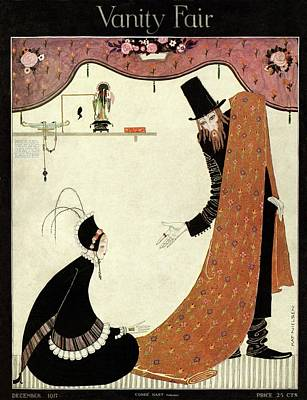 Photograph - Vanity Fair Cover Featuring A Salesman Selling by Kay Nielsen