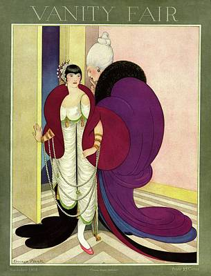 Photograph - Vanity Fair Cover Featuring A Wealthy Young Woman by George Wolfe Plank