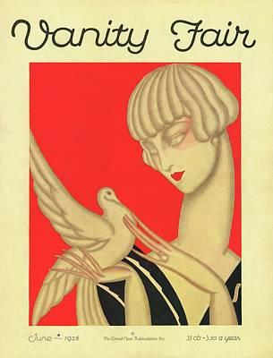 Red Bird Photograph - Vanity Fair Cover Featuring A Woman Holding by Jacques Darcy