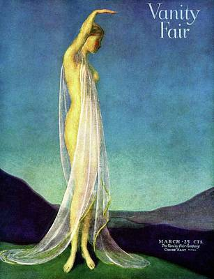 Vanity Fair Cover Featuring A Woman In A Sheer Print by Warren Davis