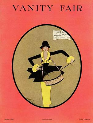 1918 Photograph - Vanity Fair Cover Featuring A Woman Playing by Gordon Conway