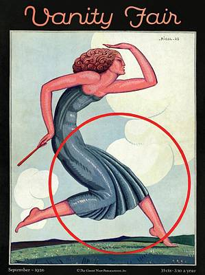 Vanity Fair Cover Featuring A Woman Playing Print by Pierre L. Rigal